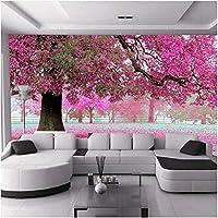Lcymt カスタム写真壁紙3Dロマンチックな桜の木の壁紙リビングルームのソファテレビの背景壁の装飾壁画の壁紙-150X120Cm