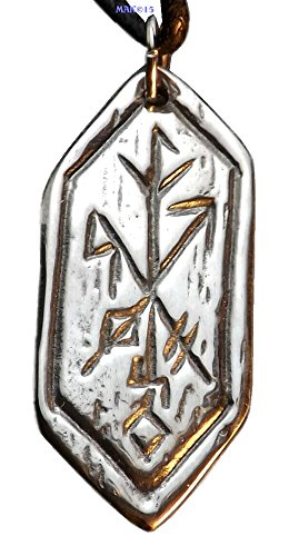 Strength of Self Rune - Pewter Pendant - Celtic, Norse Nordic Jewelry, Fortitude and Wisdom Necklace