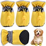 HOOLAVA Dog Shoes, Dog Boots Paw Protector with Reflective Straps, Non Slip Dog Booties for Small Medium Large Dogs and Puppies 4PCS(Size 7: 2.55'x2.16')