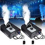 MuGuang 2 X 1500W DMX Vertikal-Nebelmaschine Rauchmaschine 2L mit Fernbedienung fr Stage Wedding Disco DJ Bar Party Sprhen bis ca. 5m