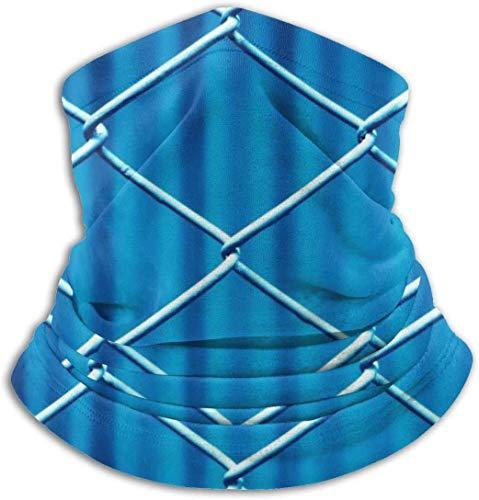 xiangyan11 Blue Mesh Metal Geflochtene Unisex Mikrofaser Halswärmer Kopfbedeckung Gesicht Schal Maske Für Winter Kaltwetter Maske Bandana Sturmhaube