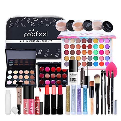 CHSEEO Paleta de Maquillaje Set Paleta de Sombras de Ojos, Juego de Maquillaje Kit de Maquillaje para Mujeres y Niñas Caja de Regalo Cosméticos #10