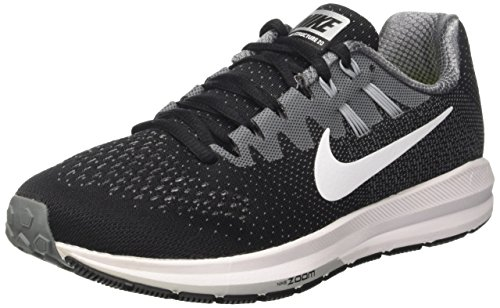 Nike Wmns Zoom Structure 20, Zapatillas de Trail Running para Mujer, (Black/White/Cool Grey/Wolf Grey), 35 EU