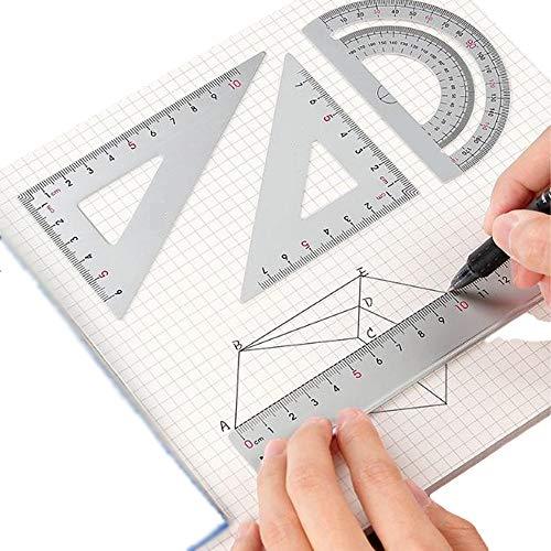 Juego de reglas de matemáticas, herramienta de geometría,