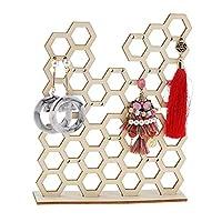 ハニカムジュエリーディスプレイネックレスイヤリングブレスレットホルダーオーガナイザースタンドクリエイティブジュエリースタンド収納ラック-Color-size