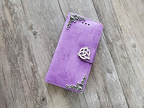 Trinity Celtic Knot Removable Wallet Handmade Phone Wallet Case Cover for iPhone 8 7 6 6s X Xs Xr 11 Pro Max Samsung Galaxy S8 S9 S10 Plus Note 8 9 10 Plus Mn1016