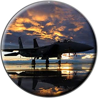 Aircraft Jet Fighter at Sunset - Air Force - Metal Lapel Hat Pin Tie Tack
