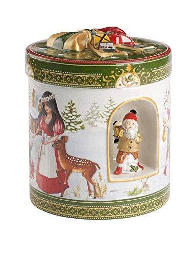Villeroy & Boch 1483275428 Christmas Toys Pacchetto Regalo Tondo, Biancaneve, Grande, Verde, 21 cm