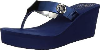 Guess Women's Medium Blue Sy Flip-Flops-5.5 UK (39 EU) (8 US) (gwSHADIA8-B)