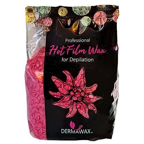 500 gramos de cera caliente con aroma de rosas para depilación profesional del cuerpo, depilación brasileña sin tiras de cera