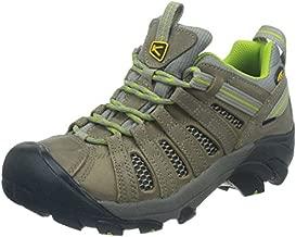 KEEN Women's Voyageur Hiking Shoe, Neutral Gray/Lime Green, 5 M US