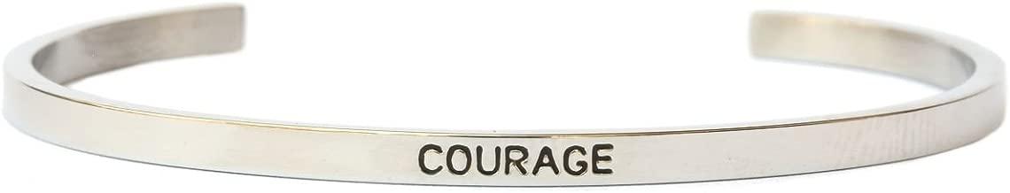 Courage Inspiration Bangle Bracelet Cuff Band