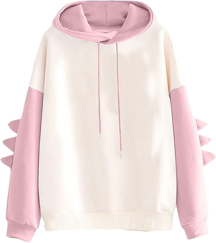 Sweatshirts for Women Cute Fall Hoodies Brown Bear Printed Long Sleeve Blouse Fashion Bag Teen Girl Winter Sweater Tops