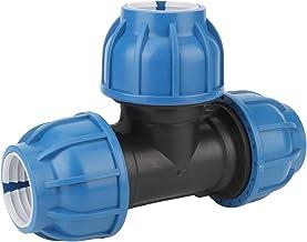 Conector de Manguera de Drenaje de Tubo en T Accesorios de Montaje de Tubería de Agua de Plástico PE Conector en T de 50 M...