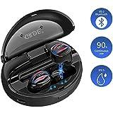 Écouteurs Bluetooth 5.0, Oreillette sans Fil Sport Hi-FI Stéréo Mic HD Étanche IPX5 avec Auto-Appariement,...