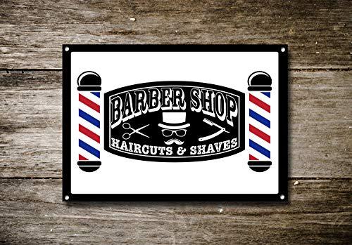 Barber Shop Sign, plaque en métal, Barbier signalisation, style moderne, Signes de barbier, Barber Shop Décor, 20,3 x 30,5 cm