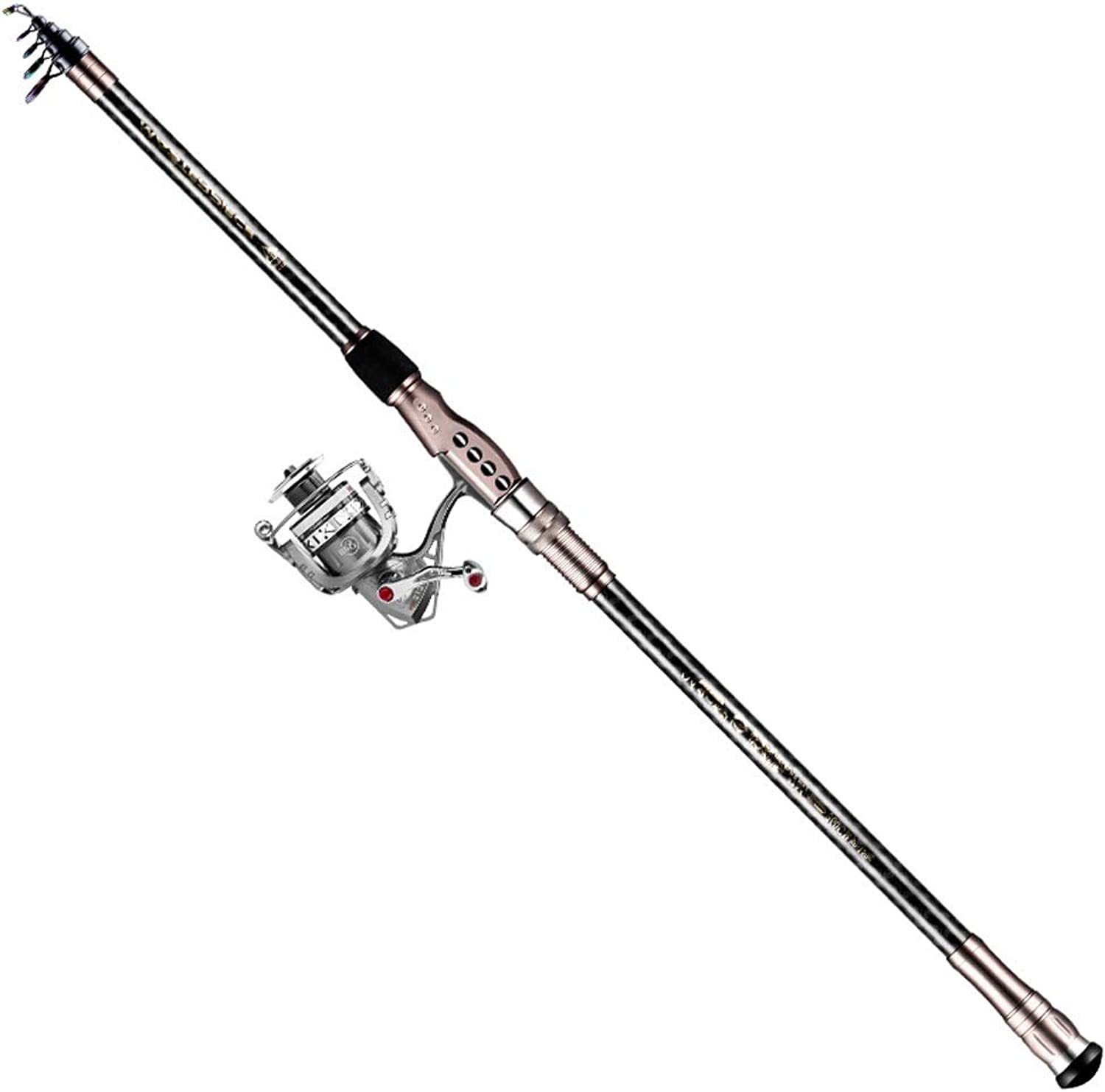 ZSLLO Telescopic Fishing Rod Stainless Steel Assembly with Fishing Reel Combination Fishing Rod Spinning Rod Fishing Tackle Fishing Rod Freshwater Fishing (Size   270cm 8.8in)