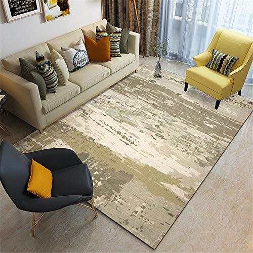 WQ-BBB Beide Heizen kibek Meliertes graues abstraktes Musterdesign Home Teppich staubdicht rutschfest Esszimmer Vorleger 120X160cm