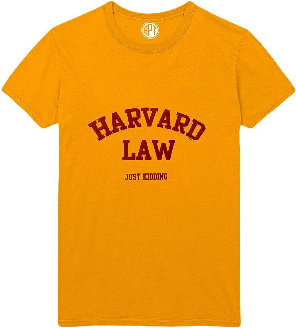 Harvard Law Just Kidding Printed T-Shirt