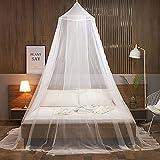 Moustiquaire pour lit,Moustiquaires De Lit,Moustiquaire Baldaquin,Les Moustiquaires Rondes sont Faciles à Installer, Convient pour pour Lit Simple, Lit Double Moustiquaire