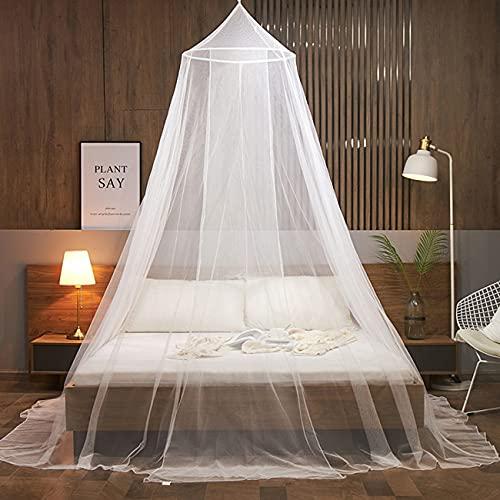 moustiquaire de lit,Grande Moustiquaire,moustiquaire baldaquin,Les moustiquaires Rondes sont faciles à Installer, Convient pour pour Lit Simple, Lit Double Moustiquaire
