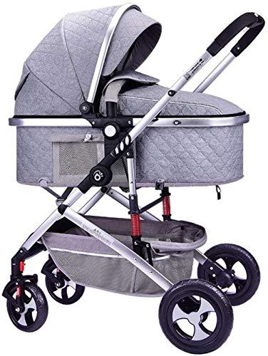 Landaus Poussette Poussette Transport, poussettes Buggy Compact, Portable Pram Transport Anti-Choc en Aluminium Poussette Fournitures pour bébé ( Color : Gray )
