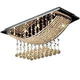 Lightsjoy Lustre de Cristal Moderne Plafonnier Lampe Pendentif Eclairage Plafond pour...