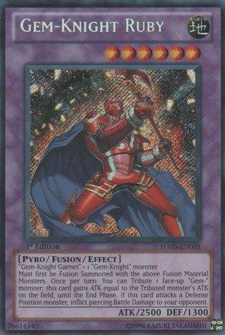 YU-GI-OH! - Gem-Knight Ruby (HA05-EN019) - Hidden Arsenal 5 - 1st Edition - Secret Rare