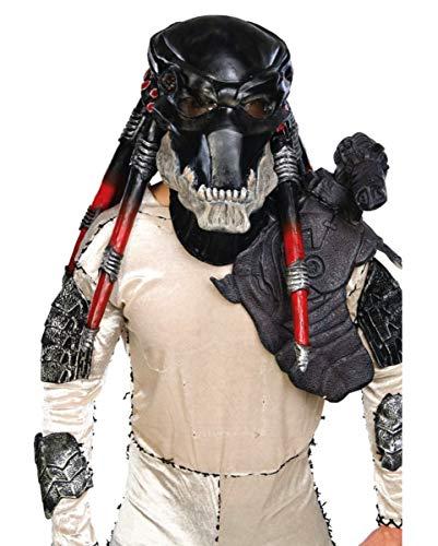Horror-Shop Black Predator Maske DLX