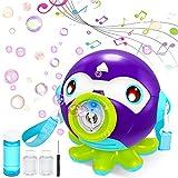 Vatos Máquina de Burbujas para Niños, Maquina Pompas Jabon con Música y Luz, Soplador de Burbujas Automático 1000/Min, Juguete de Baño Pomperos para Niños 2 3 4 5 6 Años Regalos Navidad Cumpleaños