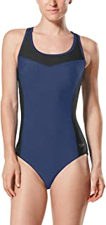 Womens Keyhole Colorblock One Piece Bathing Suit