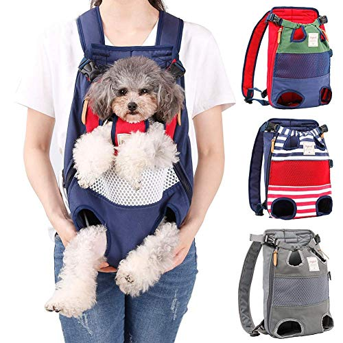 Pet Carrier Backpack for Small Medium Dogs Cats,Adjustable Pet Front Backpack Travel Bag, Legs Out