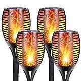 DIKAIDA 4PCs Solar Torch Lights, Upgrade Outdoor Tiki Light, 96...
