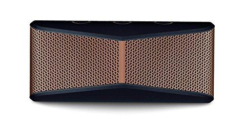 Logitech X300 Tragbarer Bluetooth-Lautsprecher, Stereo-Sound mit tiefen Bässen, Freihändiges Telefonieren, 3.5 mm Eingang, USB-Anschluss, 10 m Reichweite, 5-Stunden Akkulaufzeit - schwarz/braun