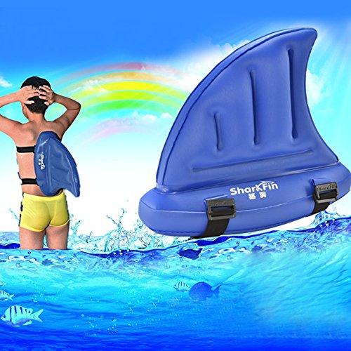 Faironly Kinder Schwimmhilfe, Dickes PVC, Haifischflosse, für Anfänger, Blau