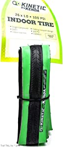 Kinetic by Kurt Kenda Trainer Tire (26-Inch x 1-Inch, Black/Green)