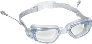 Splaqua Swim Goggles with Ear Plugs Attached for Men and Women - Adjustable Straps, Silicone Eye Seal, UV Protection and Anti Fog Lenses Swimming Goggle