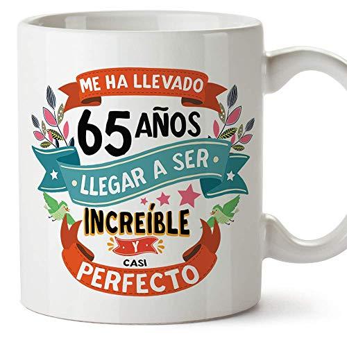 """MUGFFINS Taza 65 Cumpleaños -""""Me ha llevado 65 años llegar a ser increíble y casi perfecto - Regalos Desayuno Feliz Cumpleaños…"""