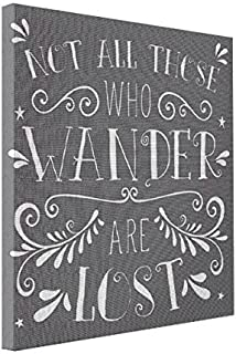 wonbye Gallery Wrap Canvas Not All Those Who Wander are Lost Wall Decor Canvas Print, Art Wall Decor 8 x 10 Inches