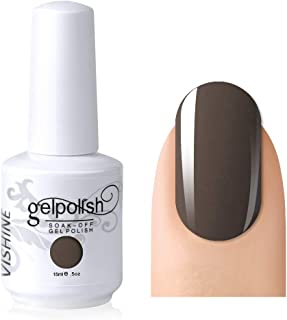 Vishine Gelpolish Lacquer Shiny Color Soak Off UV LED Gel Nail Polish Professional Manicure Greyish Brown(1541)