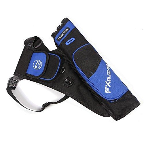 Toparchery Bogensport Bogenschießen Köcher für Pfeile 3-Röhrenköcher Pfeile Halter Verstellbarer Schultergurt (Blau)