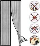 Cortina de malla de 90 x 200 cm, para mantener los insectos fuera de la parte superior a la inferior, cierre magnético, fácil de instalar sin necesidad de taladrar