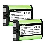 iMah HHR-P107 3.6V 650mAh Cordless Phone Battery Compatible with Panasonic PQSUHGLA1ZA HHR-P107A HHR-P107A/1B KX-TG6071 KX-TG6074 KX-TGA351 KX-TGA600 Handset Telephone (Type 35), Pack of 2