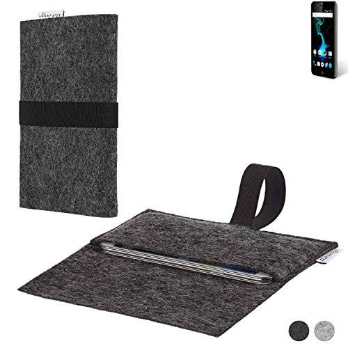 flat.design Handy Hülle Aveiro für Allview P6 Pro passgenaue Filz Tasche Case Sleeve Made in Germany