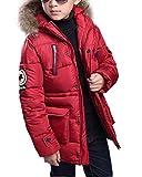 Qitun Los niños chicos capa de la chaqueta abajo cubre Ligera Outwear con capucha Jack 170 para...