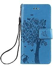NEXCURIO Sony Xperia Ace/docomo SO-02L ケース 手帳型 PU レザーケース 耐衝撃 カード収納 スタンド機能 マグネット式 エクスぺリアAce ケース 携帯カバー おしゃれ - NEKTU081328 青