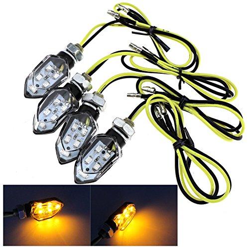 4x 5 SMD LED Mini Motorrad Blinker Blinker Bernsteingelb Blinker mit E-Prüfzeichen