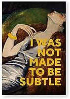 彼女の女の子の部屋の家の装飾のための壁アートキャンバス絵画、油絵ポスターとフェミニストプリントギフトの写真-40X60CMフレームなし