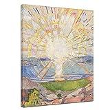 Wandbild Edvard Munch Die Sonne - 30x40cm hochkant - Alte