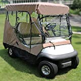 JLKDF Cubierta para Carrito de Golf, Impermeable, portátil, Transparente, Cubierta para Carrito de Golf, Almacenamiento, conducción, recinto - Caqui